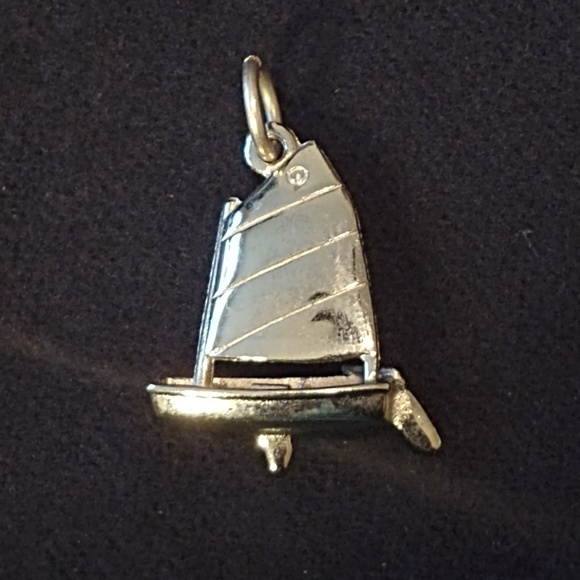 Jewelry - Sterling Silver 3-D Sailboat Boating Charm